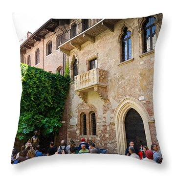 Juliets Balcony Throw Pillow by Jon Berghoff
