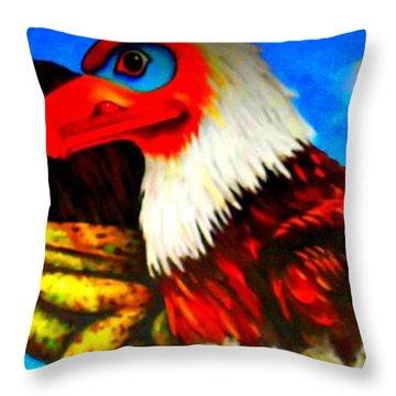 Juneau Mural 2 Throw Pillow by Randall Weidner