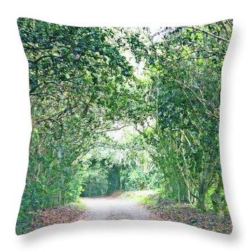 Throw Pillow featuring the photograph Jungle Drive Avery Island La by Lizi Beard-Ward