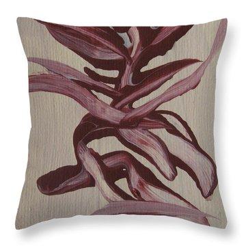 Jungle Pinks Throw Pillow