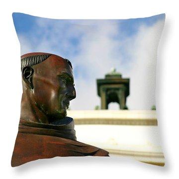 Junipero Serra Throw Pillow