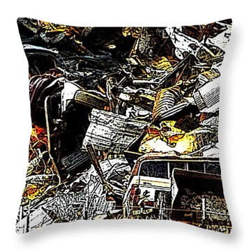 Throw Pillow featuring the photograph Junky Treasure 2 by Lydia Holly