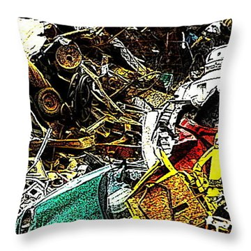 Throw Pillow featuring the photograph Junky Treasure by Lydia Holly