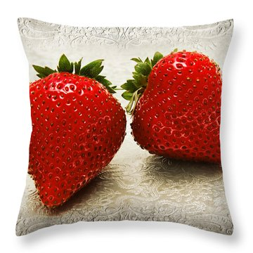 Just 2 Classic Berries Throw Pillow by Andee Design