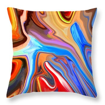 Just Abstract IIi Throw Pillow by Chris Butler