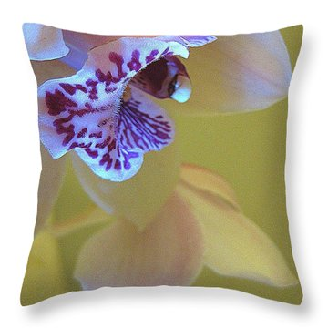 Just Being Here Throw Pillow by Shirley Sirois