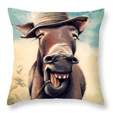 Just Chill Throw Pillow by Zdralea Ioana