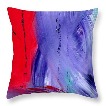 Throw Pillow featuring the painting Just Color by Carolyn Repka