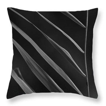 Just Grass Bw Throw Pillow by Heiko Koehrer-Wagner