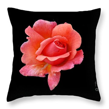 Just Peachy Throw Pillow by Cindy Manero