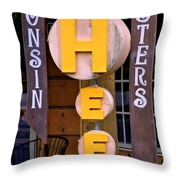 Just Say Cheese Throw Pillow