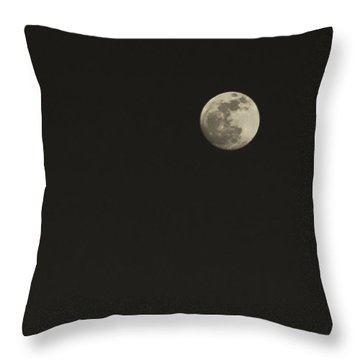 Just The Moon Throw Pillow by Roger Wedegis