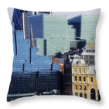 Juxtaposed Throw Pillow by John Clark
