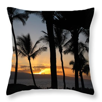 Ka'anapali Sunset Throw Pillow