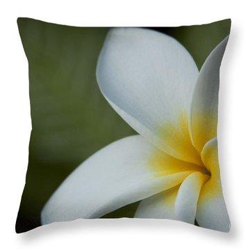 Kaena Mana I Ka Lani Kaulani Na Pua Plumeria Hawaii Throw Pillow by Sharon Mau