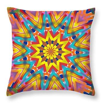 Kaleidoscope Series Number 7 Throw Pillow