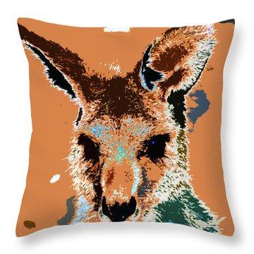 Kanga Roo Throw Pillow by David Lee Thompson