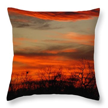 Kansas Sunset Throw Pillow