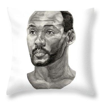 Karl Malone Throw Pillow