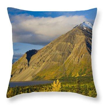 Kathleen Lake, Kluane National Park Throw Pillow by John Sylvester