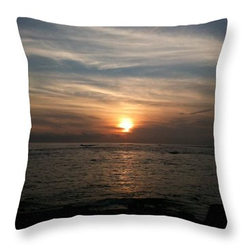 Throw Pillow featuring the photograph Kauai Sunset by Carol Sweetwood