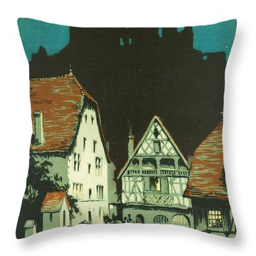Kaysersberg Alsace Throw Pillow by Georgia Fowler