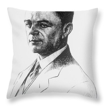 Kazimierz Funk, Polish-american Throw Pillow by Science Source