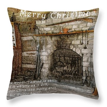 Keep Christmas Merry Throw Pillow by Michael Peychich