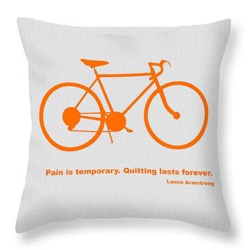 Bicyclists Throw Pillows