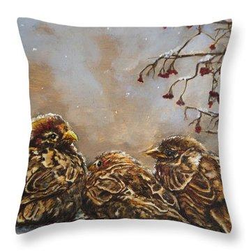 Keeping Company Throw Pillow by Enzie Shahmiri