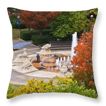 Keeping Dry Throw Pillow