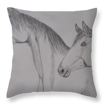Keiger Mustangs Throw Pillow by Gerald Strine