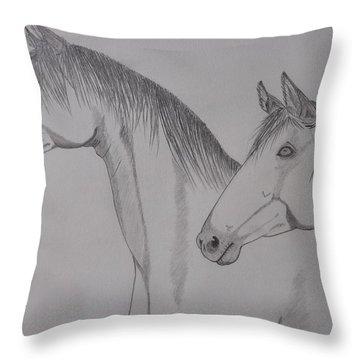 Keiger Mustangs Throw Pillow