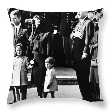 Kennedy Funeral, 1963 Throw Pillow by Granger