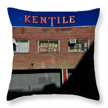 Kentile Factory Throw Pillow