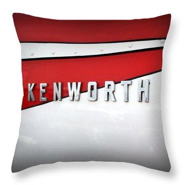 Kenworth Truck Logo Throw Pillow by Karyn Robinson