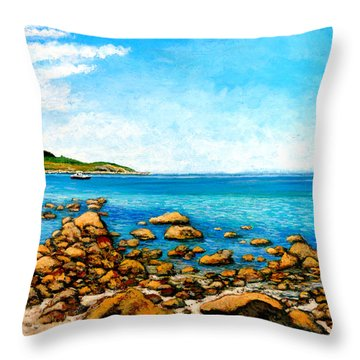 Kettle Cove Throw Pillow by Tom Roderick