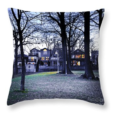 Kew Park At Dusk Throw Pillow by Elena Elisseeva