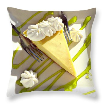 Key Lime Pie Throw Pillow by Jo Sheehan