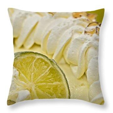 Key Lime Pie  Throw Pillow by Susan Leggett