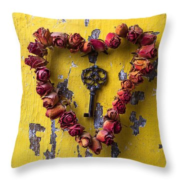 Key To My Heart Throw Pillow by Garry Gay