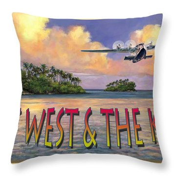 Key West Air Force Throw Pillow by David  Van Hulst