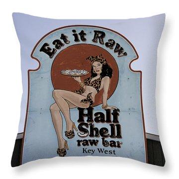 Key West Eat It Raw  Throw Pillow