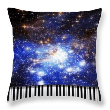 Throw Pillow featuring the digital art Keys Of The Divine by Kenneth Armand Johnson
