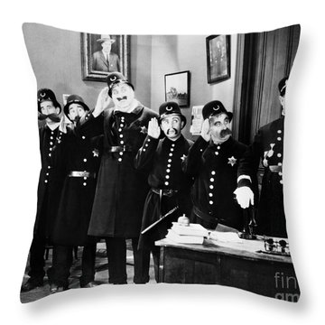 Keystone Cops Throw Pillow by Granger