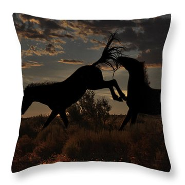 Throw Pillow featuring the photograph Kick by Tammy Espino