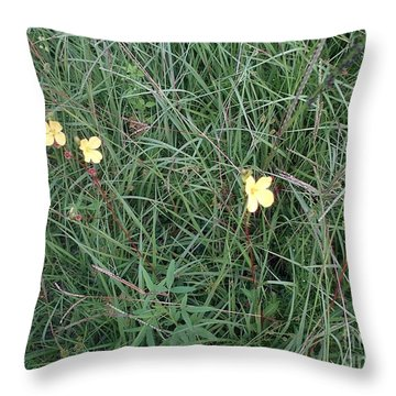 Kiiroi Hana Throw Pillow by George Pedro