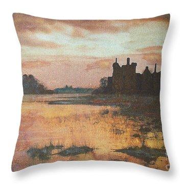 Kilchurn Castle Scotland Throw Pillow by Richard James Digance