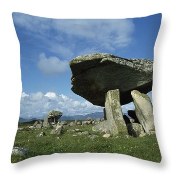 Kilclooney, Co Donegal, Ireland Dolmen Throw Pillow by The Irish Image Collection