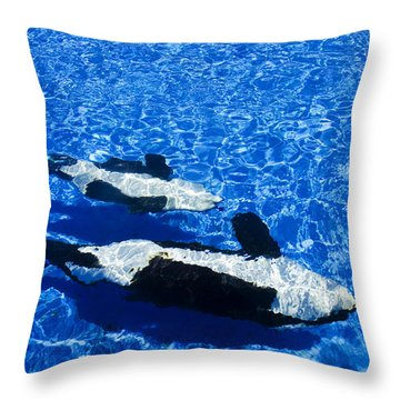 Killer Whales Throw Pillow by Dave Fleetham - Printscapes